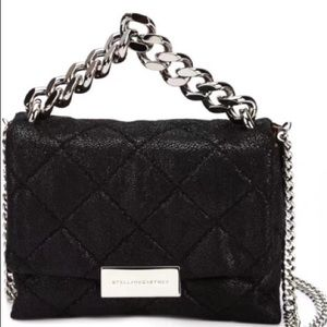 Stella McCartney black leather sling bag